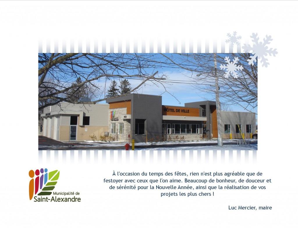 saint alexandre voeux des f tes et horaire du bureau municipal saint alexandre. Black Bedroom Furniture Sets. Home Design Ideas