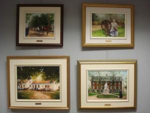Peintures inspirées de photos d'archives, par l'artiste Lise Ducharme