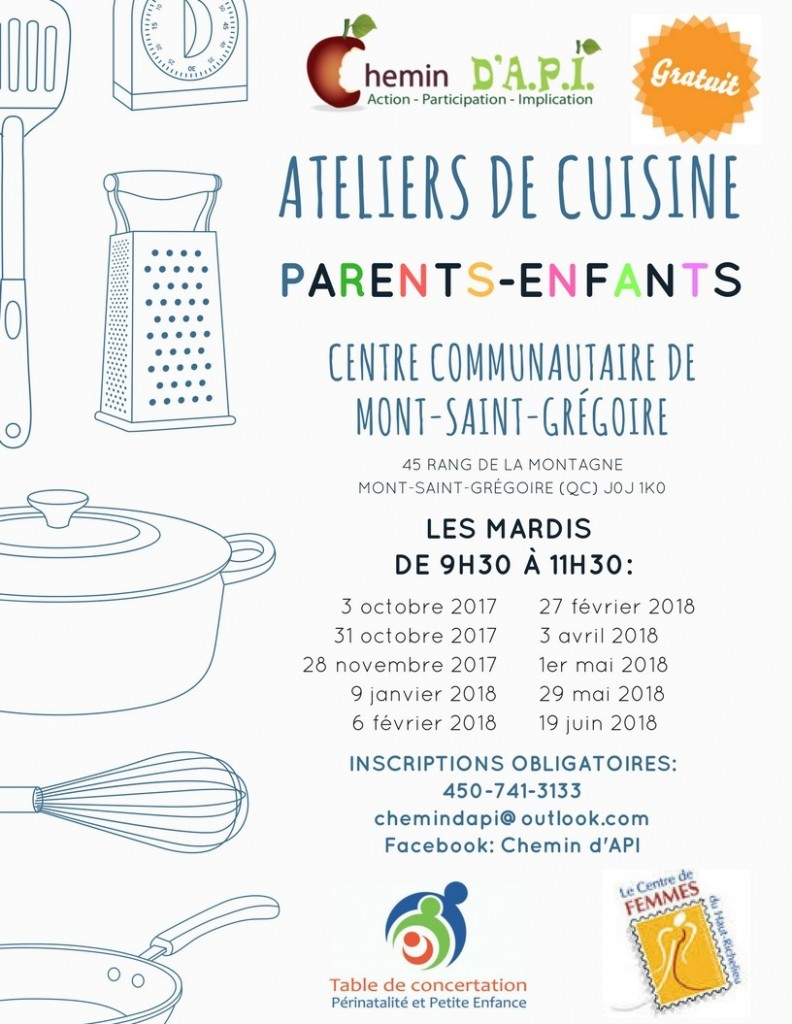 Ateliers de cuisine St-Greg 17-18