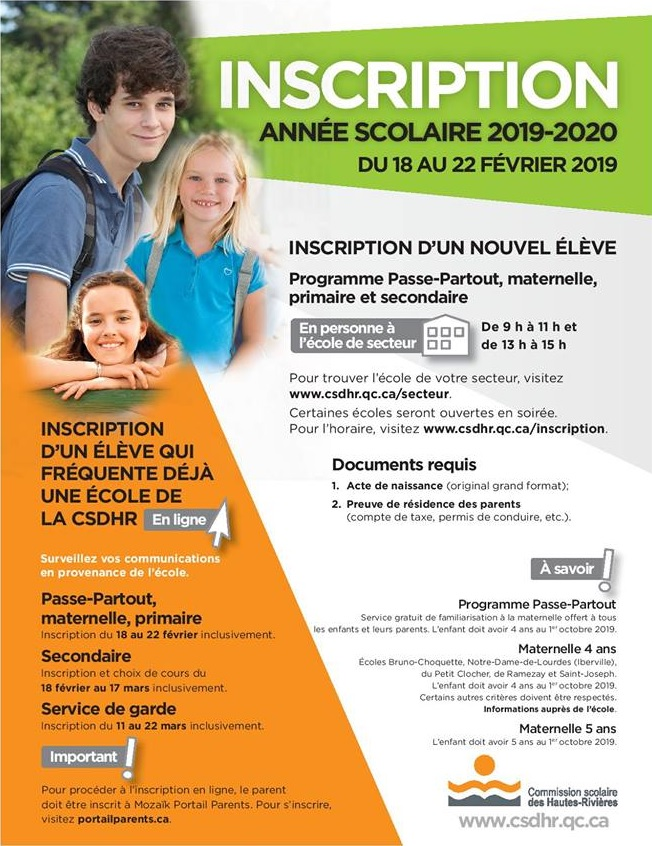 inscription-ecole-csdhr-2019-2020