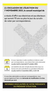Vote par correspondance aux électrices et électeurs de 70 ans et plus-1
