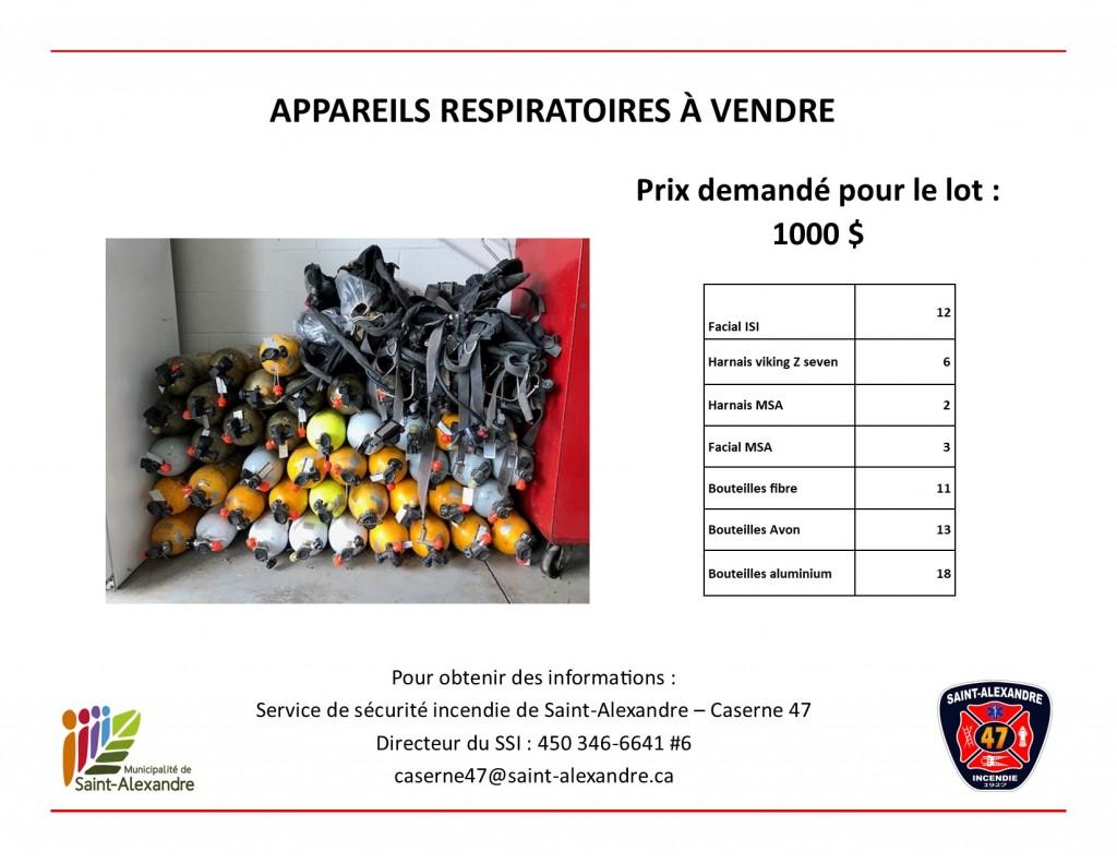 Appareils respiratoires - V.F